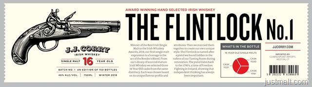 J.J. Corry The Flintlock No. 1 16-Year Irish Whiskey
