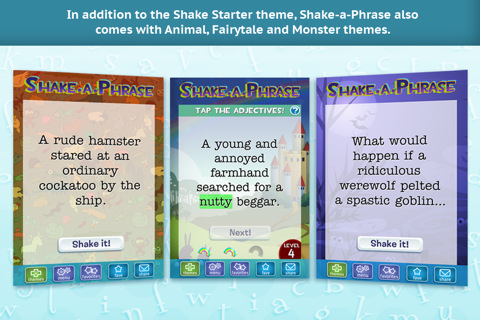 Shake-A-Phrase Activities