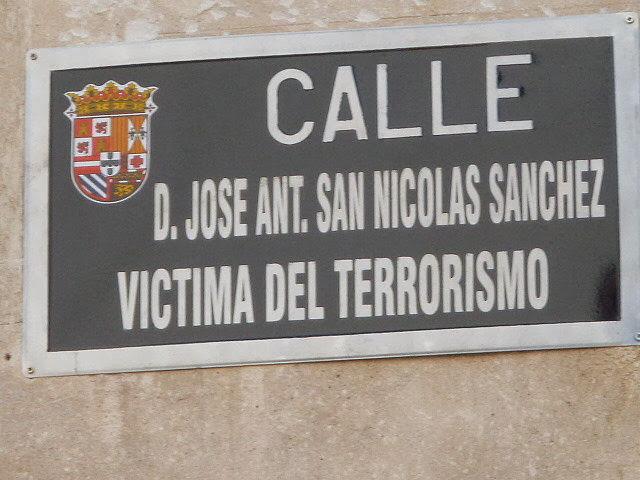 Placa Calle José Antonio San Nicolas