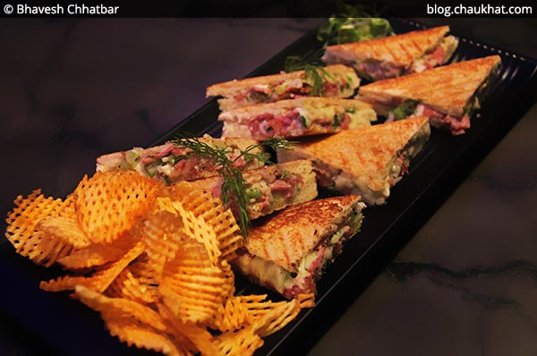 Ham and Chilli Cheese Toasties, BarBar, Phoenix Market City, Viman Nagar, Pune