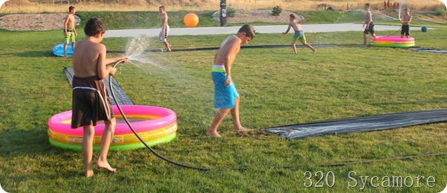diy slip slide kickball