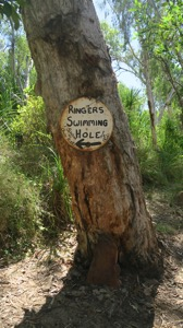 Ringers Swimming Hole Sign