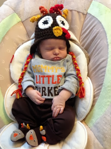 Crochet Turkey Baby Hat