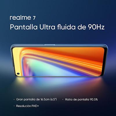 شاشة وتصميم هاتف ريلمي 7 realme 7
