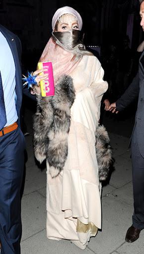 Lady Gaga in a Burqa Dress