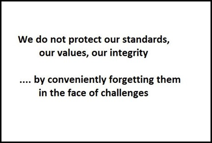 forget standards