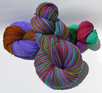 Arcadia on Merlin Superwash Merino Fingering - Trim Option & Penny Ship
