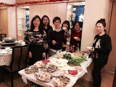 2015年12月27日女子組在鍾希潔府上吃火鍋