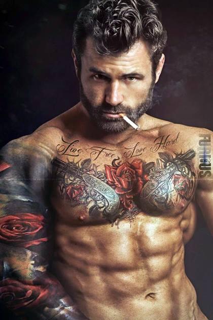 Manly-Man-Devilish-Smoking-Handsome-Hunk