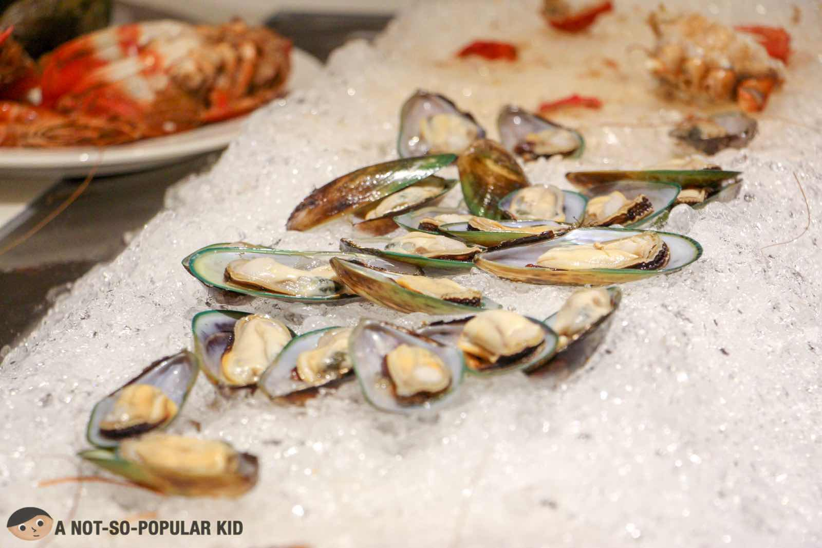 Mussels in S Kitchen, Seafood Night, Buffet