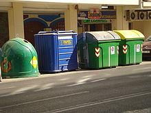 contenedores de desperdicios