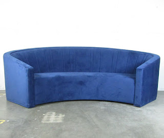 Grafton Curved Sofa with Custom Upholstery