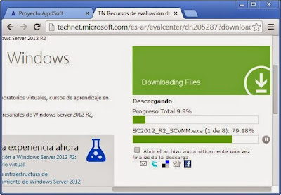 Descarga gratuita fichero ISO Windows Server 2012 Datacenter