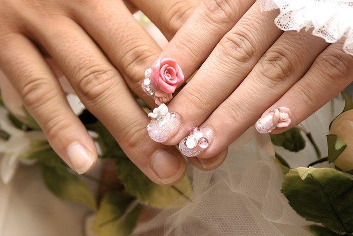 Bridal Nail Art Design