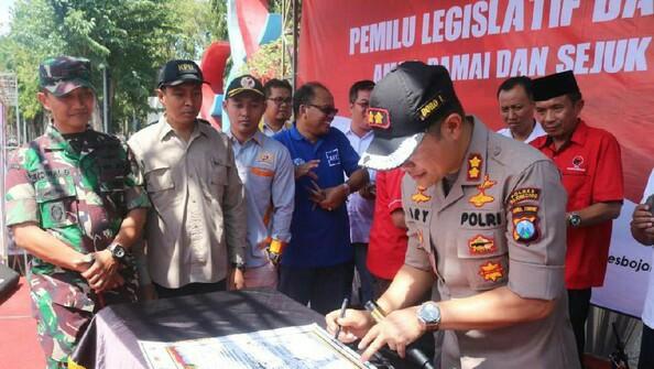 APARAT TNI DAN POLRI BOJONEGORO MINTA PARTAI POLITIK (PORPOL) MENJAGA KAMTIBMAS