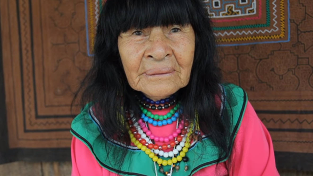 Traditional healer and elder Olivia Arevalo Lomas of the Shipibo-Conibo Indigenous people of Peru was shot and killed at her home by an unknown assailant or assailants on 19 April 2018. Photo: Temple of the Way of Light / YouTube