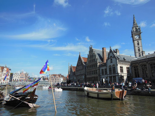 Graslei, el muelle de las hierbas de Gante, una de las ciudades más bonitas de Bélgica