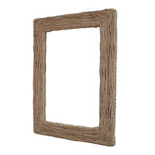 Grass Twist Framed Mirror