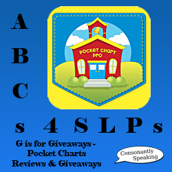 ABCs 4 SLPs: G is for Giveaways - Pocket Charts From Good Neighbor Press Reviews and Giveaways image