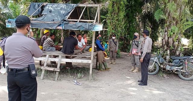 Polsek Kelayang Gelar Patroli Yustisi, Masih Ada Warga Tak Pakai Masker