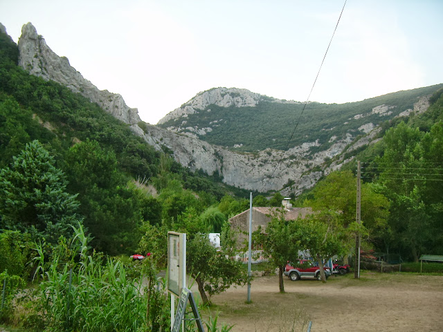 Le Vieux Moulin campsite at the head of the Gorges de Galamus
