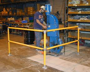 Barierka systemowa do zabezpieczania niebezpiecznych miejsc