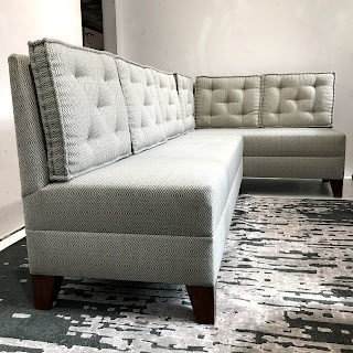 Tufted Cushion Two-Piece Bench Sofa