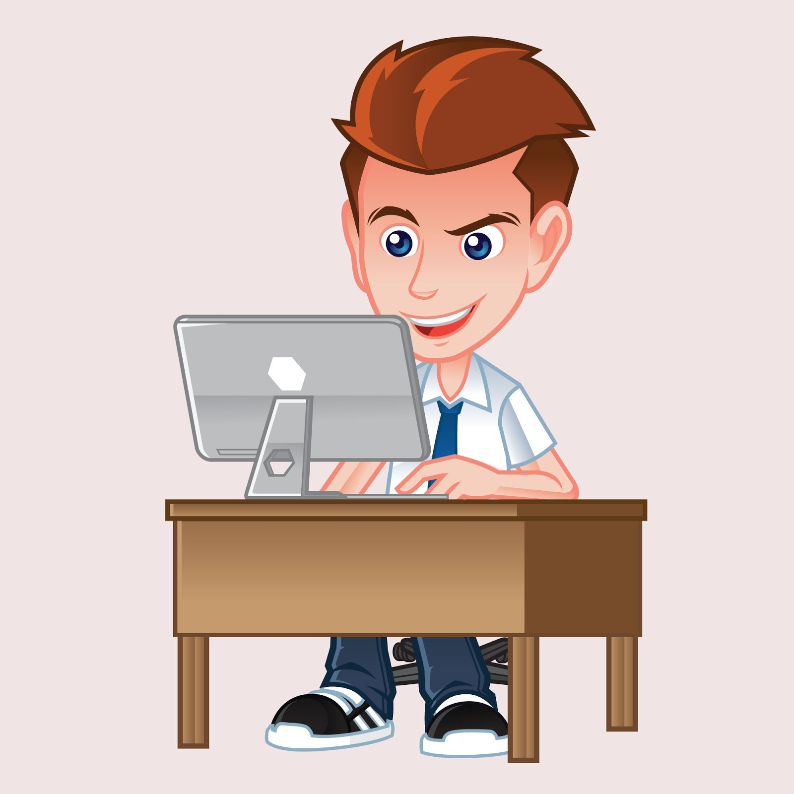 Programmer Mascot Illustration Free Download Vector CDR, AI, EPS and PNG Formats