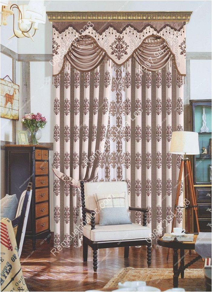 Rèm cửa sổ đẹp hà nội cao cấp hoa châu âu  2