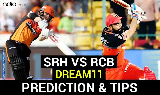 SRH vs RCB Dream11 Team Hints, Captain And Vice-Captain, Fantasy Cricket Tips IPL 2020: Sunrisers Hyderabad vs Royal Challengers Bangalore, Match 3 Dubai International Cricket Stadium at 7:30 PM IST Monday September 21