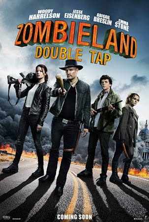 Poster Of Zombieland: Double Tap In Hindi Dubbed 300MB Compressed Small Size Pc Movie Free Download Only At worldfree4u.com