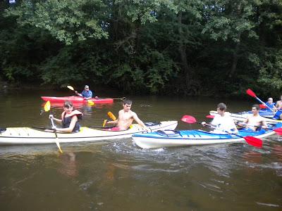 Juniorzy przez moment w nurcie rzeki