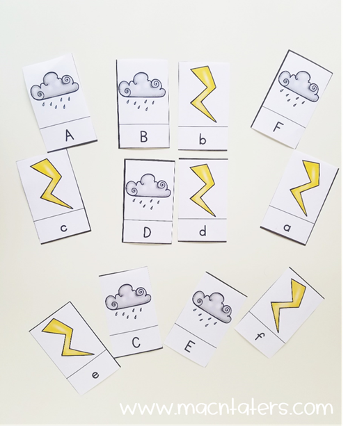 Lightening Cloud Letter Match