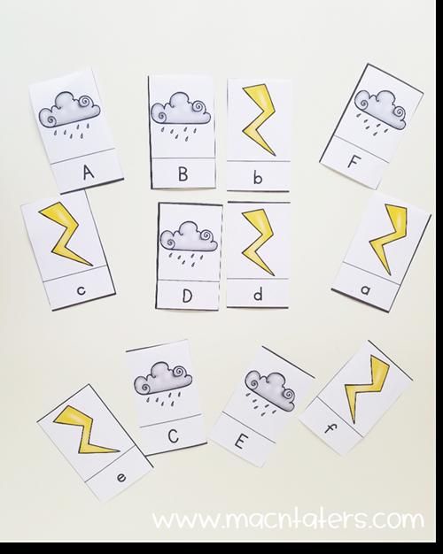 Lightening Cloud Letter Match