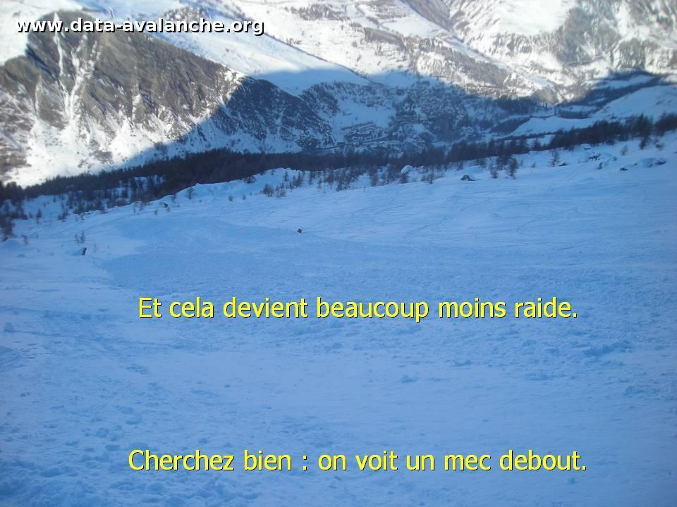 Avalanche Oisans, secteur La Meije, Dans le secteur du Lac de Puyvachier - Photo 1