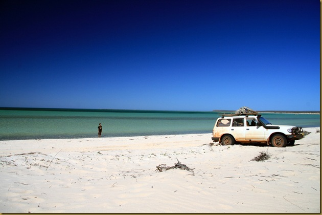 The beach at Francois Peron National Park, Western Australia. Another 4WD only spot