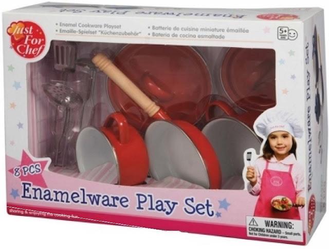 Bộ bếp tráng men 8 món Just For Chef Enamelware Play Set CH2002EM tráng men màu đỏ bền đẹp