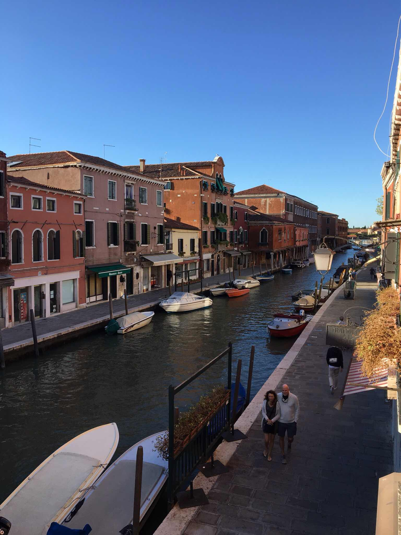 Afternoon view from our room at the Murano Palace