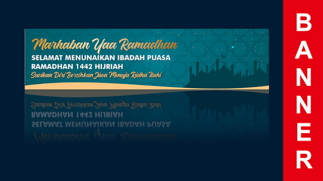 Download Background Banner Ramadhan CDR CorelDraw Gratis