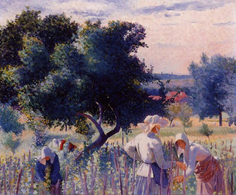 Henri-Edmond Cross - Femmes liant la vigne