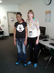 Quintanta Draper, Oak Grove Student Highlight, with teacher Monica Rizzo