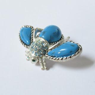 Joan Rivers Enamel Faux-Turquoise Pin