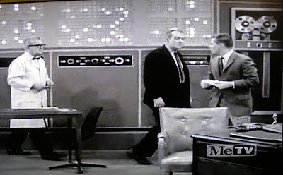 Still from 1961 TV show Dobie Gillis in front of 6 million dollar computer