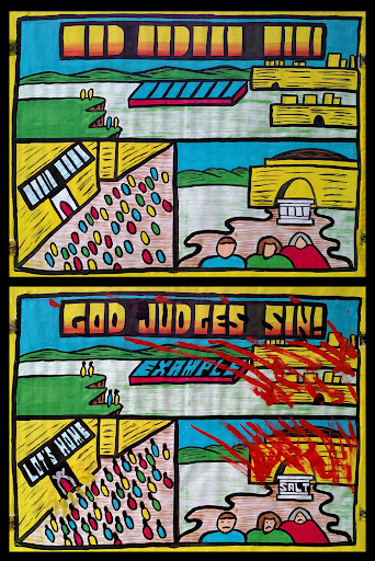 """Part 4 of """"The Gospel Through the Patriarchs."""" What would you think of a Judge who let criminals go free? That would be a terrible Judge!   God is not a terrible Judge. He will punish sin. But He gives people a chance to repent. God told Abraham that He would make an example of Sodom and destroy it. If there were only 10 people in the whole city who followed God, then God would spare the city. Instead of finding 10 people following God, the opposite was true. When some newcomers came to town to stay with Lot, the men of the town demanded that Lot let them have the men to do things to them too horrible to mention. Because the men were really angels in disguise, they were able to escape, and warned Lot to leave and not look back. Lot and his family escaped, except Lot's wife, who looked back longingly and paid for it with her life.   Sin has deadly consequences. Our sin has deadly consequences too, but we'll find out the cure... in Part 5!"""