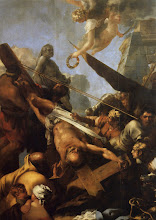Photo: - Le May de Notre-Dame pour 1643 La crucifixion de saint Pierre (Paris Notre-Dame) - Sébastien Bourdon
