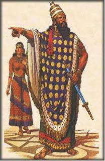 Vestimenta colorida de los asirios