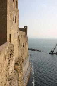 Sheer walls of Castel dell'Ovo