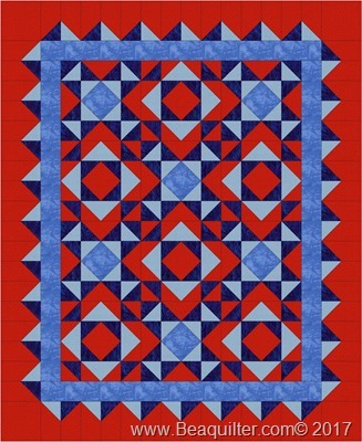 qube8in 36x44 red blues