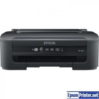 How to reset Epson PX-105 printer