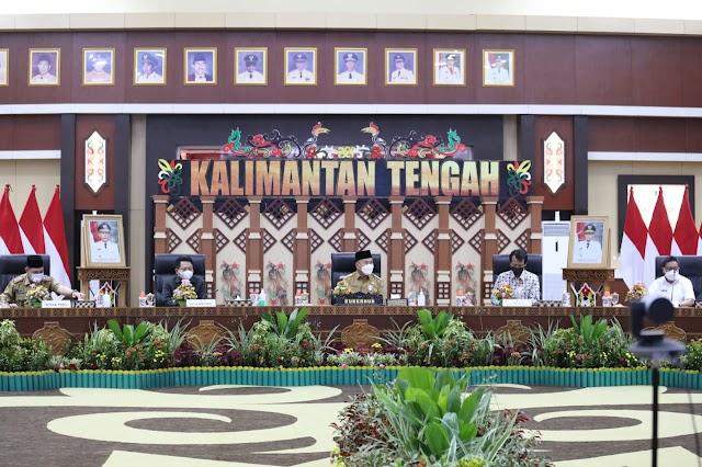 Gubernur Sugianto Sisipkan Pesan Ini di Rakor Program Pencegahan Korupsi